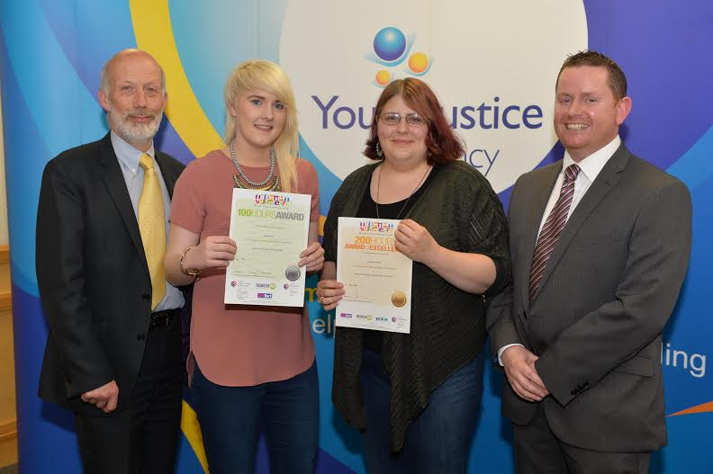 Ellie at the Youth Justice Agency Volunteer Awards