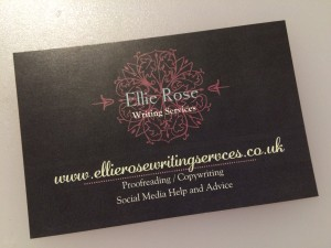 Ellie Rose Writing Services Business Card