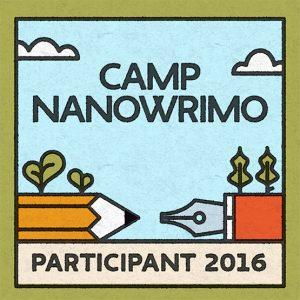 Camp NaNoWriMo Participant Bagde